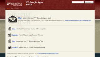 VT Google Apps Portal