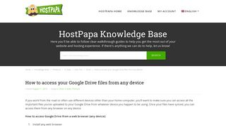 How to access your Google Drive files from any device - HostPapa ...
