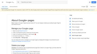 About Google+ pages - Google+ Help - Google Support