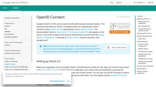 OpenID Connect | Google Identity Platform | Google Developers