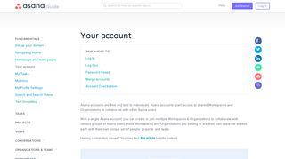 Managing your account settings | Product guide · Asana