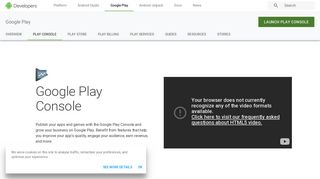 Google Play Console   Android Developers