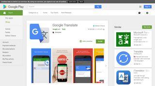 Google Translate - Apps on Google Play