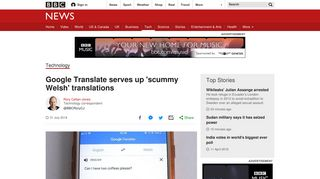 Google Translate serves up 'scummy Welsh' translations - BBC News