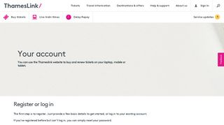 Your account   Thameslink