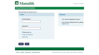 Login - Manulife