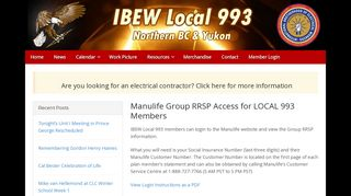 Manulife Group RRSP Access for LOCAL 993 Members – IBEW Local ...