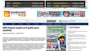 GRU Airport amplia wi-fi grátis para usuários - Guarulhos Web