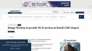 Boingo Wireless to provide Wi-Fi services at Brazil's GRU Airport
