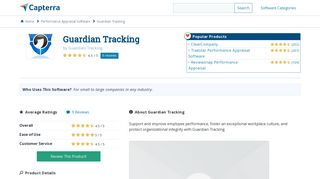 Guardian Tracking Reviews and Pricing - 2019 - Capterra