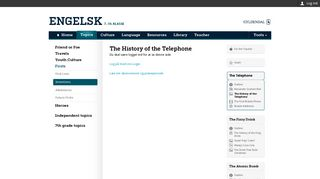 engelsk.gyldendal.dk   The History of the Telephone