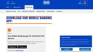 Halifax UK   Download apps   Online Services