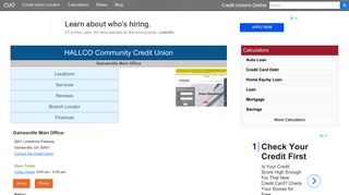 HALLCO Community Credit Union - Gainesville, GA