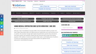 Hamad Medical Corporation (HMC) Qatar Hiring Now | HMC Jobs