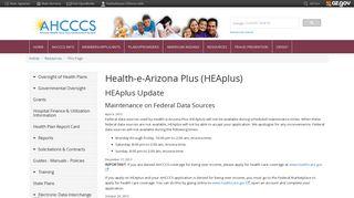 HEAplus - ahcccs