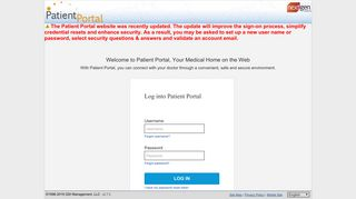 Patient Portal: Login