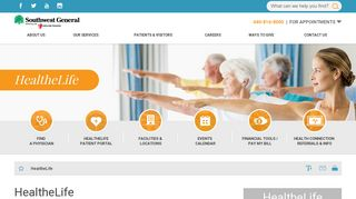 HealtheLife | Southwest General - Southwest General Health Center