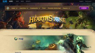 FAQ - Hearthstone