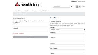 Login | hearthstone