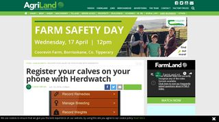 Register your calves on your phone with Herdwatch - Agriland.ie