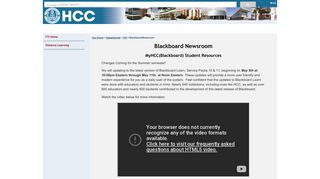 Hillsborough Community College - BlackboardNewsroom