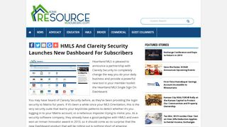 HMLS and Clareity Security Launches New Dashboard for Subscribers