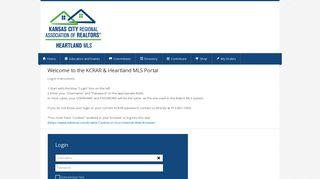 Welcome to the KCRAR & Heartland MLS Portal