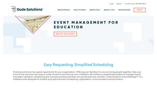 Event Management Software for Education   Dude Solutions