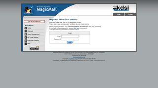 Magic Mail Server: Login Page - MagicMail Mail Server - KDSI