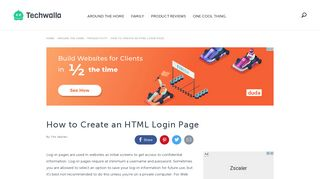 How to Create an HTML Login Page   Techwalla.com