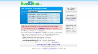 New IP Now: Change Your IP! Free anonymous web browsing.