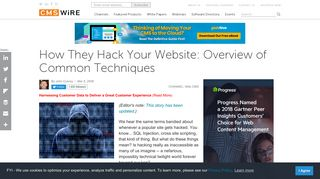 How They Hack Your Website: Overview of Common Techniques