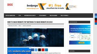 How to Hack Website Top Methods to Hack Website in 2019 - DICC