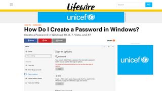 How to Create a Password in Windows - Lifewire