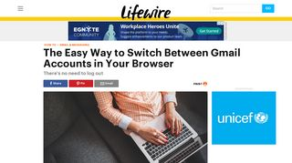 How to Switch Between Multiple Gmail Accounts Quickly - Lifewire