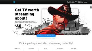 DIRECTV NOW Packages, Plans & Pricing