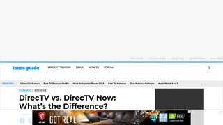 DirecTV vs. DirecTV Now: What's the Difference? - Tom's Guide