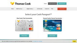 Thomas Cook Cash Passport   Travel Money Card   Mastercard