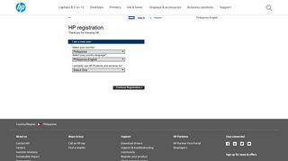 Login - HP Product Registration