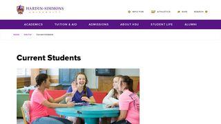 Current Students | Hardin-Simmons University