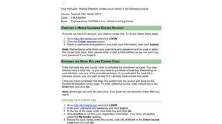 Heinle Learning Center - Registration Instructions