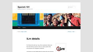 iLrn details | Spanish 101 - UBC Blogs