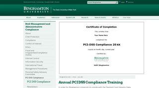 Binghamton University - Training Portal