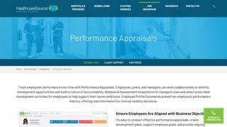 Performance Appraisals | HealthcareSource