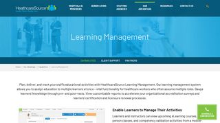 Learning Management | HealthcareSource