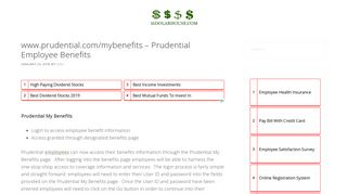 www.prudential.com/mybenefits - Prudential Employee Benefits ...