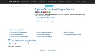 Mybenefits prudential login Results For Websites Listing - SiteLinks.Info