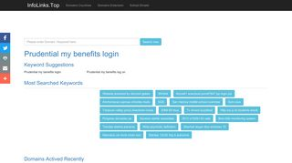 Prudential my benefits login Search - InfoLinks.Top