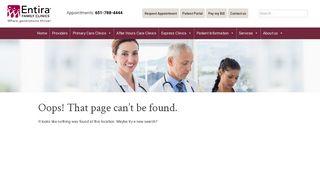 Entira Family Clinics www.entirafamilyclinics.com Como/Roseville 651 ...