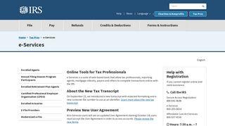 e-Services | Internal Revenue Service - IRS.gov